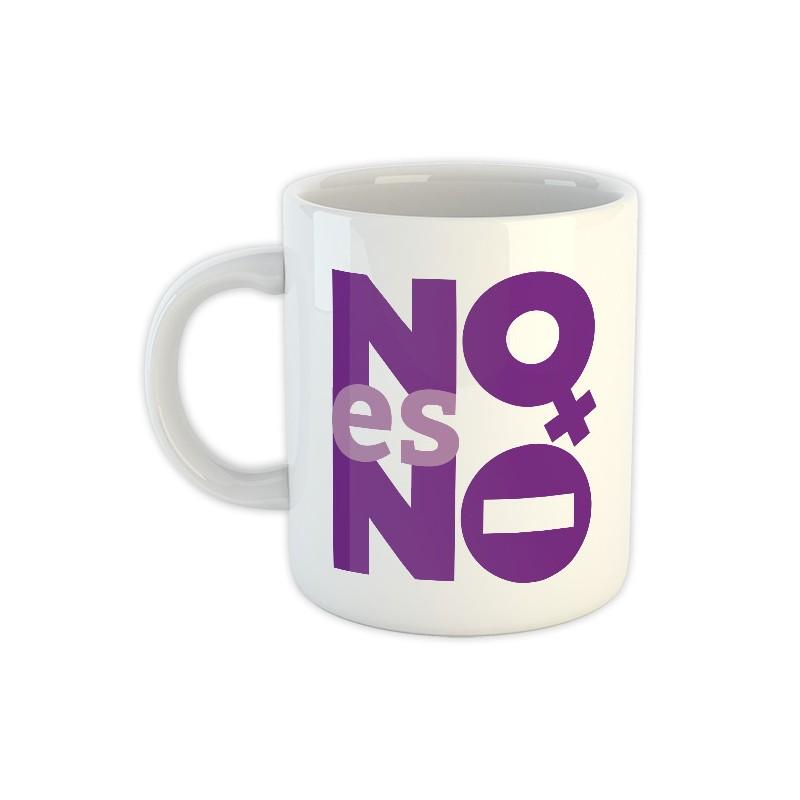 Tassa blanca de ceràmica NO és NO