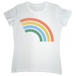 Camiseta branca co arco da vella