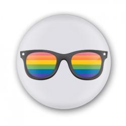 Xapa blanca ulleres colors LGTBI