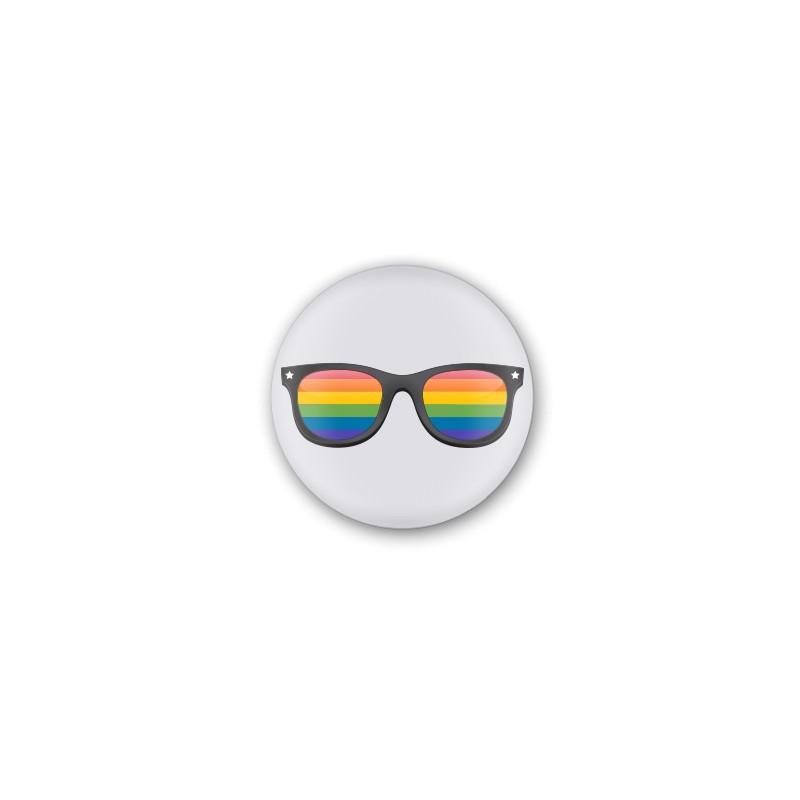 Chapa branca lentes de cores LGTBI