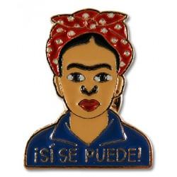 Pin Frida Kahlo Sí Se Puede