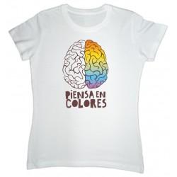 Camiseta Mujer Piensa En Colores