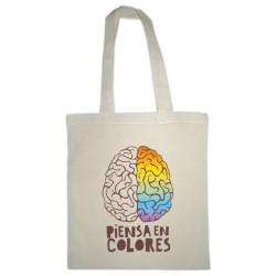Bolsa de tela piensa en colores