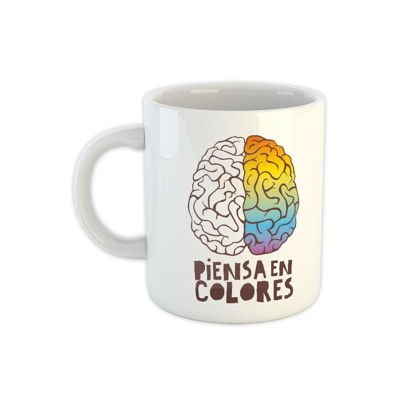 Taza de cerámica Piensa en colores