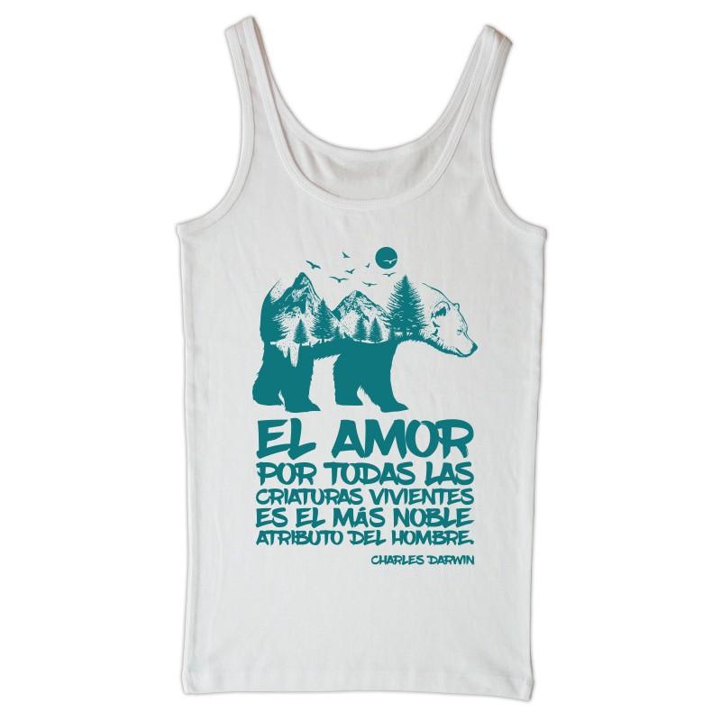 camiseta tirantes branca Darwin