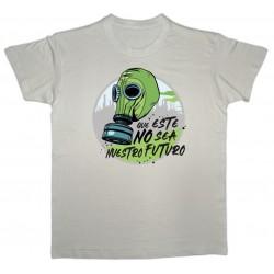 Camiseta en beige Que este no sea nuestro futuro