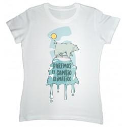 samarreta blanca cambio climático dona