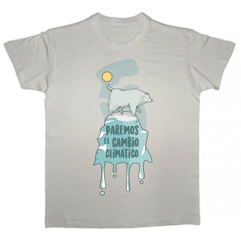 Camiseta beige Cambio Climático Unisex