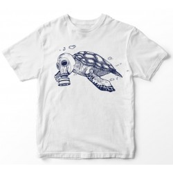 Camiseta branca tartaruga