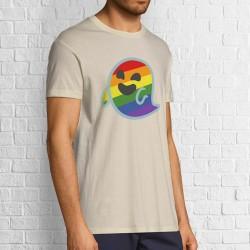 Camiseta branca Gaysper unisex beige