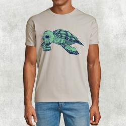 Camiseta beige tartaruga model