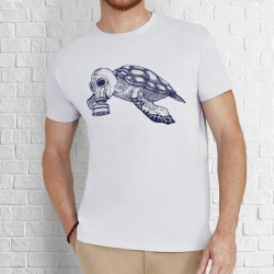 Camiseta branca tartaruga model