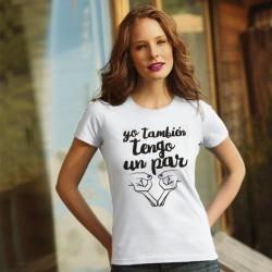 Camiseta: Yo también tengo un par branca
