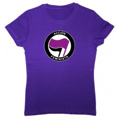 Camiseta color lila Acción Feminista