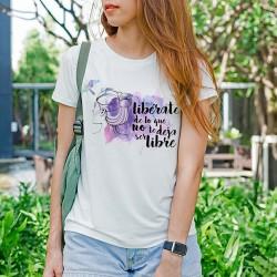 Camiseta feminista Libérate mujer
