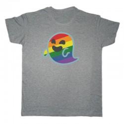 Camiseta Gaysper unisex gris retro
