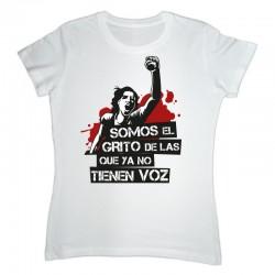 Camiseta feminista Somos el grito blanca