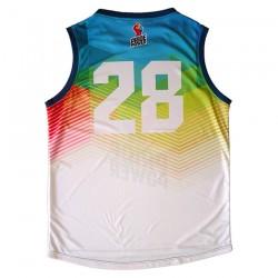 Camiseta de baloncesto LGTBI por detrás