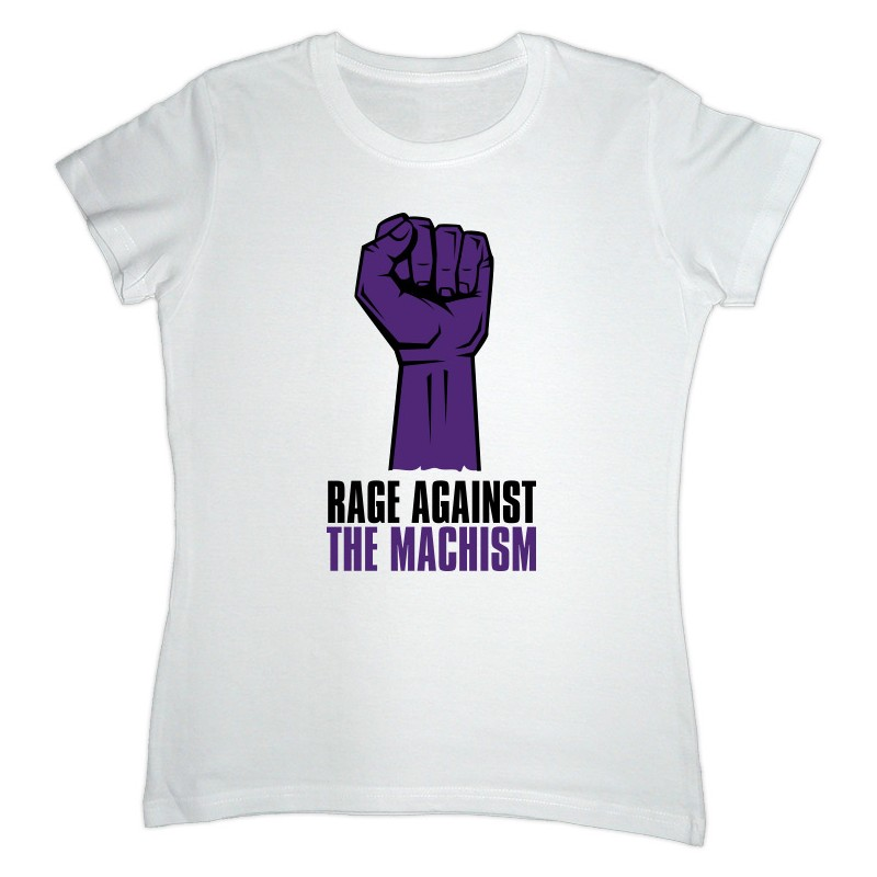 Samarreta blanca Rage Against the Machism