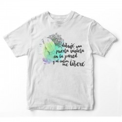Camiseta unisex Puerta Violeta