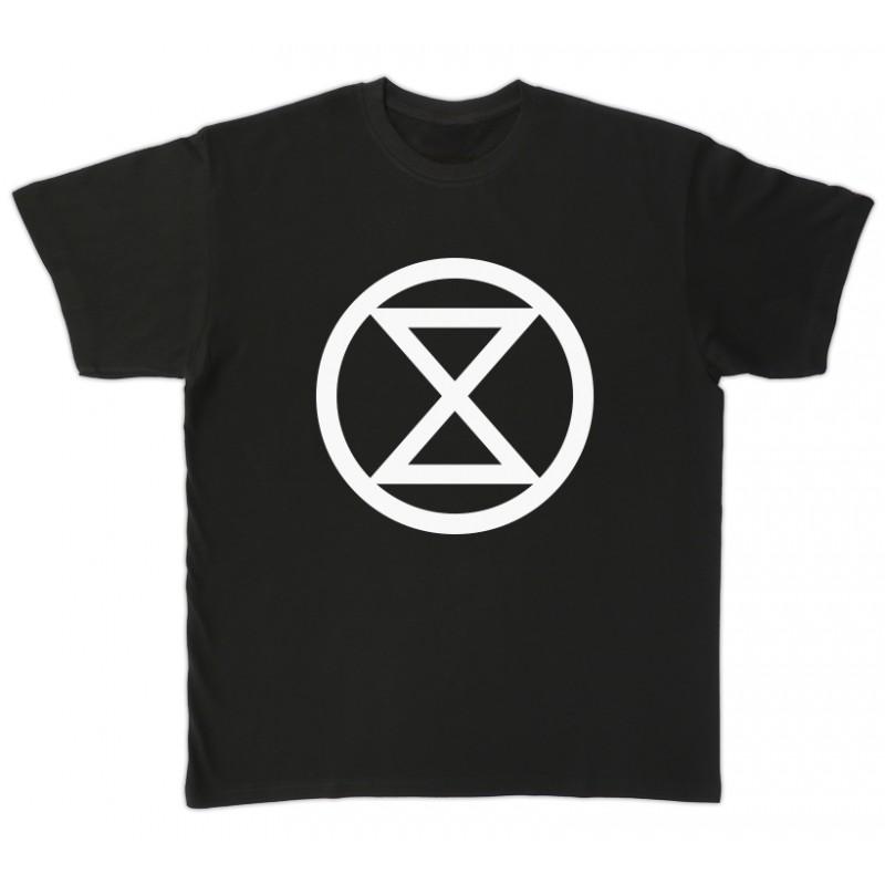 Camiseta negra Extinction/Rebellion