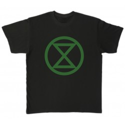 Camiseta negra Extinction/Rebellion