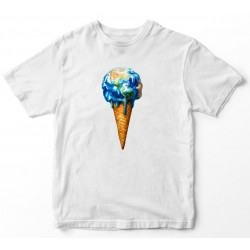 Camiseta unisex de bola de xeo
