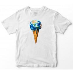 Camiseta unisex helado bola...