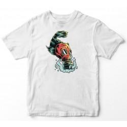Camiseta de peixe de máscara