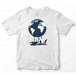 Camiseta planeta deshielo