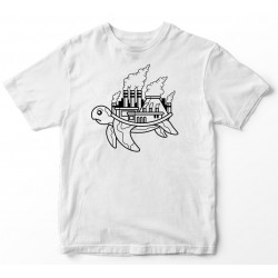 Camiseta tortuga contaminación