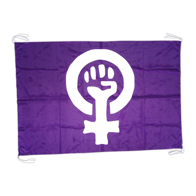 Bandera lila símbolo feminista