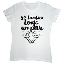Camiseta cor branca: Yo también tengo un par