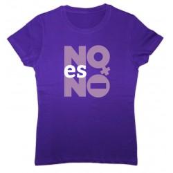 Camiseta lila NO es NO