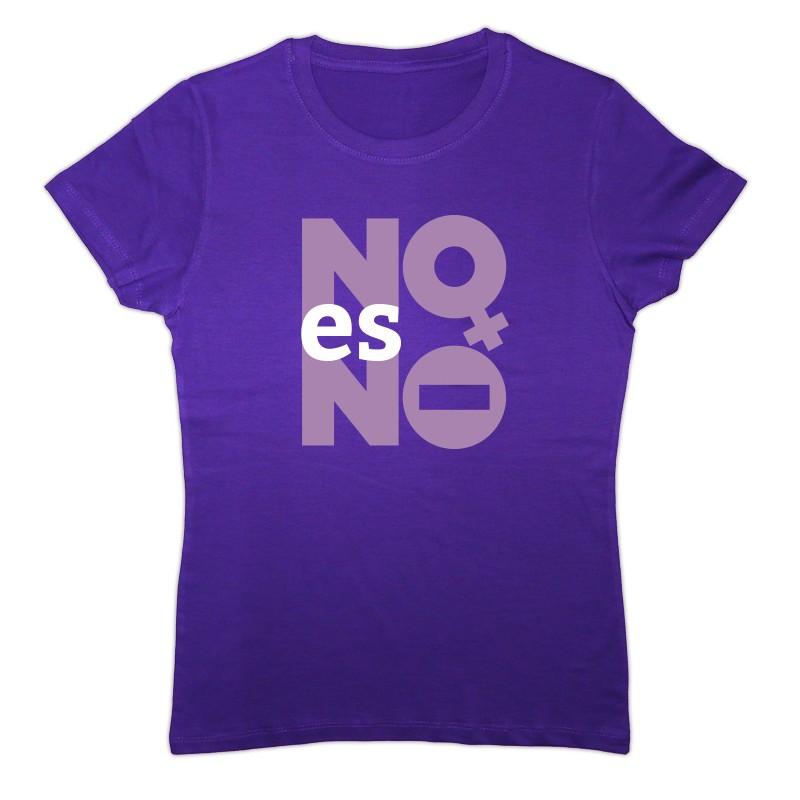 Kamiseta lila NO es NO