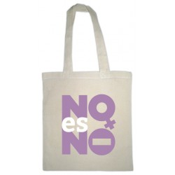 Bolsa de tea branca con mensaxe NO es NO